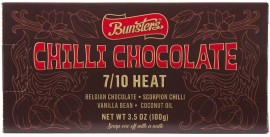 Bunsters Chilli Chocolate 7/10 100g